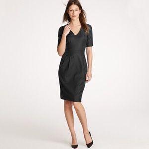 J. Crew Black Memo Suiting Dress